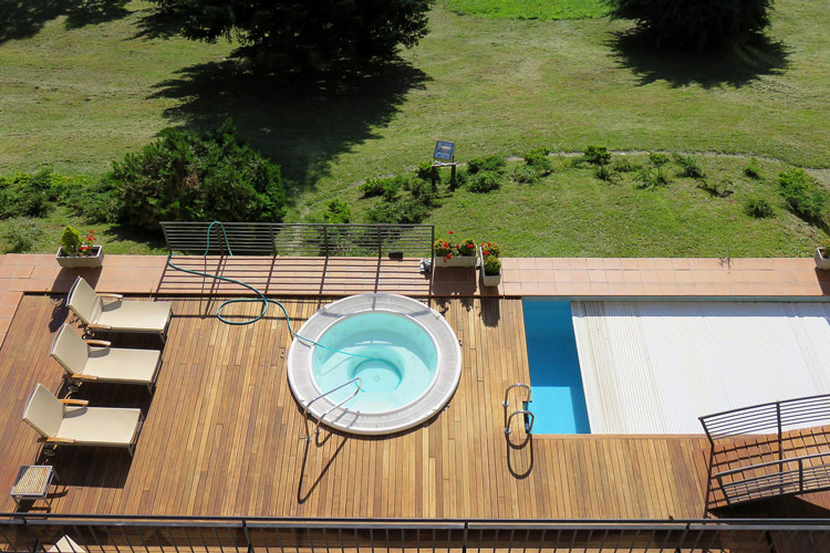 In-ground and above ground pools, pools on the terrace and indoor ...